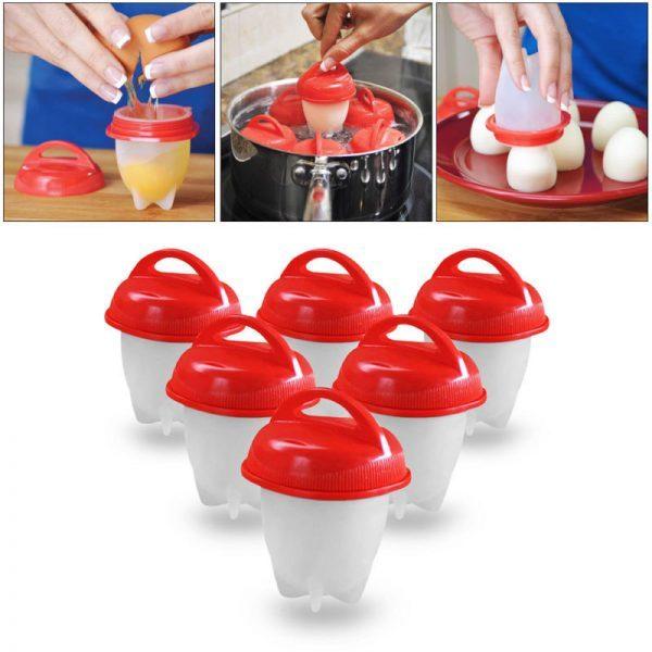 Сет од 6 силиконски калапи за варење јајца