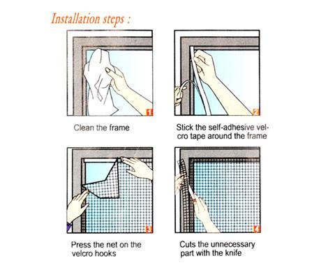 Flyscreen Мрежа за прозорци против комарци